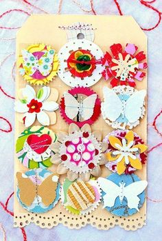 Tara Anderson - Pins I've Used IRL: inspired embellishments as seen on my blog here http://julieannshahin2.blogspot.com/2011/08/scrapbooking-embellishments-for.html