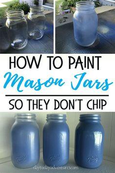 DIY Bless You Mason Jar Tissue Dispenser   Painted mason jars, Mason jars, Jar crafts