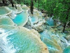 Kuang Si falls in Laos? Introducing the spring terraces falls from the Province of Abra, Philippines. Witness the crystal clear water of kaparkan falls located at the municaplity of Tineg📍👣 . The Places Youll Go, Places To See, Crystal Clear Water, Tourist Spots, Philippines Travel, The Province, Travel Goals, Natural Wonders, Trip Planning