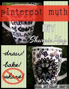 Bingo Buttercup Crafts: DIY Sharpie Baked Mugs: my final verdict...CRAFTY BUMMER