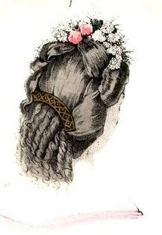 1850-1860 civil war era fashion hair