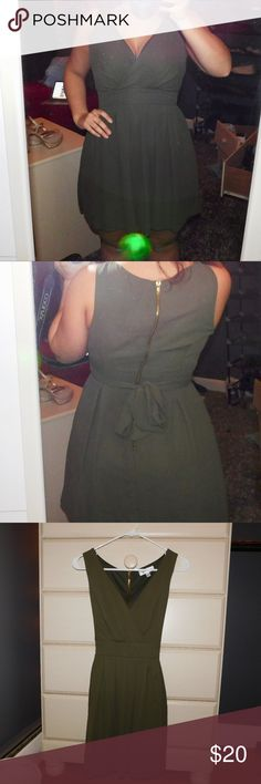 Army Green Mini Dres