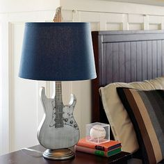 Guitar Lamp...for Mason's room, but red or tan or brown...LOVE IT!