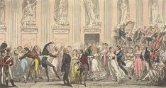 Take your partners: a ball in the Argyll Rooms, likely venue of the Dandies' Ball.