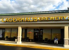 Checking out the LagerHaus Brewery & Grill in Palm Harbor Florida. One of many breweries in the Tampa Bay Area.