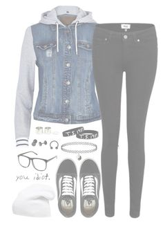"""""""12.27"""" by alexdacko ❤ liked on Polyvore featuring River Island, Vans, Paige Denim, H&M and Phase 3"""