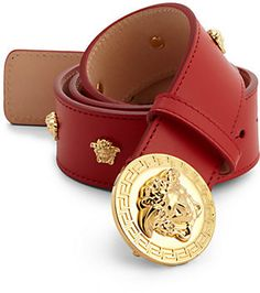 Shop for Medusa Logo Leather Belt by Versace at ShopStyle. Now for Sold Out.