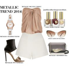 """""""METALLICS 2014"""" by jamilia-wallace on Polyvore"""