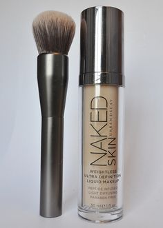 Urban Decay's Naked Skin Foundation and Good Karma Optical Blurring Brush. I want!!!