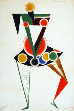Alexander Rodchenko, Costume design for We, 1919-1920, © A. A. Bakhrushin State Central Theatre Museum
