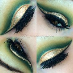 Cool-green Saint Patrick's day eye makeup