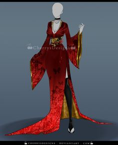 (closed) Outfit Adopt 645 - Miyazu-Hime by CherrysDesigns