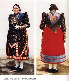 FolkCostume&Embroidery: Costume of Ochsenfurt, Unterfranken or Lower Franconia, Germany