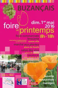 Foire de Printemps, Buzançais, Centre Ville de Buzançais, Dimanche 1 Mai 2016, 8h00 > 18h00