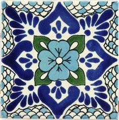 Polanco 3 Talavera Mexican Tile // Box of 90 - 4¼ x 4¼ SALE $149.85