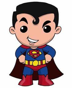Chibi Superman, Batman Y Superman, Spiderman, Cute Illustration, Character Illustration, Disney Drawings, Cute Drawings, Superman Quotes, Couple Cartoon
