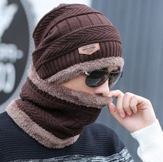 Men Winter Warm Thick Wool Knit Hip-Hop Beanie Ski Outdoor Hat Skull Cap O300