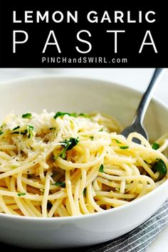 Easy and healthy Lemon Garlic Pasta with a creamy sauce of butter olive oil and plenty of fresh lemon juice and zest Made in just 20 minutes Once of those pasta recipes that you ll turn to over and over Pasta With Lemon Sauce, Butter Sauce For Pasta, Lemon Garlic Pasta, Easy Pasta Sauce, Pasta Sauce Recipes, Easy Pasta Recipes, Cooking Recipes, Healthy Recipes, Garlic Butter Pasta Sauce