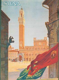 Vintage Travel Posters: Siena, Italy