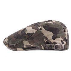 500685a6b97 Camouflage Beret Cap Cotton newsboy Cap Beret Men Women Flat Caps Outdoors  - Color 1 - CJ188KMROCA