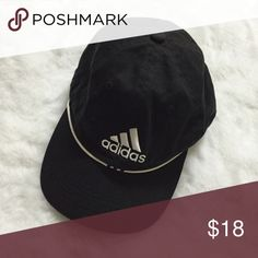 Adidas one size black logo hat Good condition. Adidas Accessories Hats