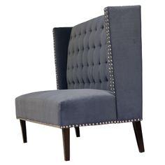 Diningsofa i gråblå farge. www.krogh-design.no/shop/dining-sofa/