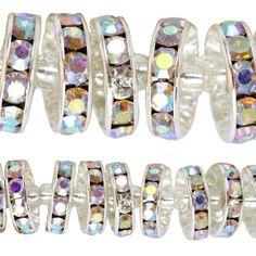 Bead Gallery® Crystal Rhinestone Rondelle Beads