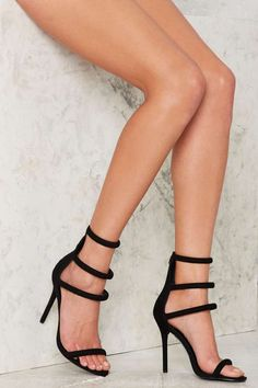 Nasty Gal On a Level Heel - Black Vegan Suede - Heels | Valentine's Day | Party Shop | Best Sellers