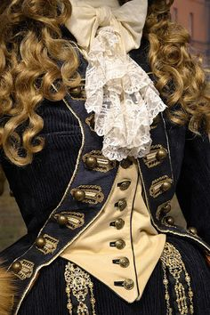 "Details of ""The Duchess"" dress worn by Keira Knightley."