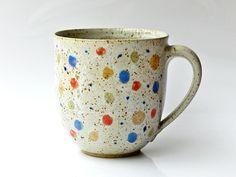 Jumbo-Becher - grün/gelb - Geschirr von keramik-Annette-Oberwelland - Becher & Tassen - Küche & Kochen - DaWanda