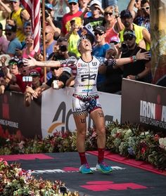 Heather Jackson overjoyed after finishing third overall in the IRONMAN World Championship in Kona Hawaii. . Congrats @hjacksonracing . . . . . Follow us use hashtag #wonderfulrunning and join the movement . . . . . . . . .  @ganipinero