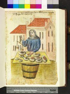 Spice Merchant (1453), Mendel Housebook Amb. 317.2° Folio 75 recto (Mendel I), Nuremberg