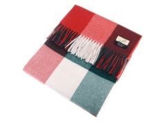 Cashmere Blanket in red and green. Pure cashmere blanket, made in the UK using the finest quality yarns. Cashmere Yarn, Red Green, Blanket, Yarns, How To Make, Xmas, Stuff To Buy, Collection, Products