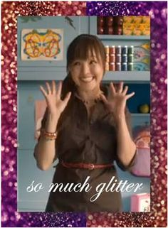 so. much. glitter!  Target ad from a few years ago, always so funny