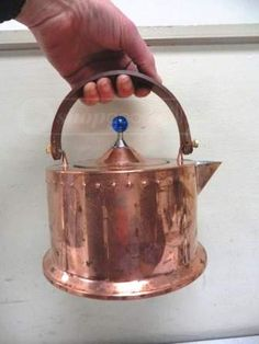 Bodum Copper Clad Stainless Teakettle Italy DescriptionBodum Copper Clad Stainless Teakettle - ItalyUnless otherwise indicated above or in images, no markings were x Designed by C. Copper Pots, Copper Kitchen, Copper Interior, Copper Crafts, Tea Kettles, Copper Accents, Vintage Italy, Copper Color, Kitchen Essentials