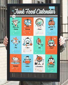 2014 Junk Food Calendar by 55his
