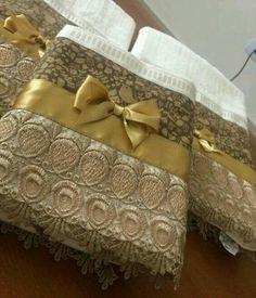 elegant embellished towels