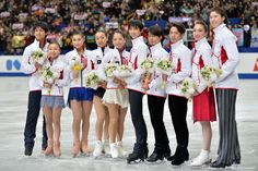 By Atsushi Tomura Getty Images Sport | (L-R) Ryuichi Kihara, Narumi Takahashi, Kanako Murakami, Mao Asada, Akiko Suzuki, Yuzuru Hanyu, Tatsuki Machida, Daisuke Takahashi, Cathy Reed and Chris Reed of Japan pose for photo session after they were selected as Japanese representitive for the olympic games in Sochi after the All Japan Figure Skating Championships at Saitama Super Arena on December 23, 2013 in Saitama, Japan. (1536×1024)