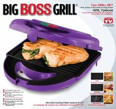 Purple Big Boss 8870 Grill Set with 3 Sets of Non-Stick Cooking Plates, Purple: Appliances Purple Home, Purple Kitchen Accessories, Indoor Electric Grill, Purple Furniture, Cocinas Kitchen, Cool Art Projects, All Things Purple, Purple Stuff, Purple Reign
