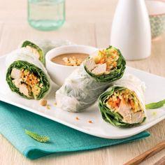 Rouleaux de printemps au poulet et légumes - Recettes - Cuisine et nutrition - Pratico Pratique