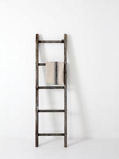 antique wood ladder / picking ladder