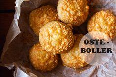 Mad på 4 sal: Osteboller - Lige til madpakken Bread Bun, Home Recipes, Bread Baking, Muffin, Cheese, Breakfast, Ethnic Recipes, Buns, Pizza