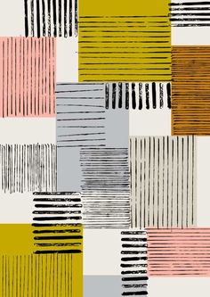 Eloise Renouf lines and squares pattern design