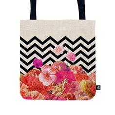 www.bespo.co.uk biancagreenart store products chevron-flora-tote-bag