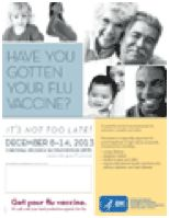 National Influenza Vaccination Week (NIVW) highlights the importance of annual flu shots. When more people get vaccinated, there is less chance of a severe influenza outbreak. http://1.usa.gov/1vcUtbh