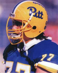 Mark Stepnoski - C - Pittsburgh Panthers Pitt Football, College Football Players, Panthers Football, Football Cheerleaders, Football Stuff, Cheerleading, Football Helmets, Pitt University, University Of Pittsburgh
