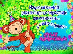 Hoy es un buen día para decirte #cumpleanos #feliz_cumpleanos #felicidades #happy_birthday