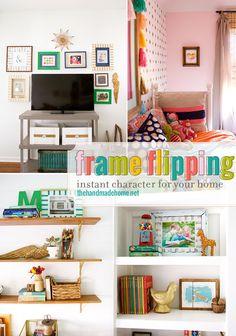 frame flipping - the handmade homethe handmade home
