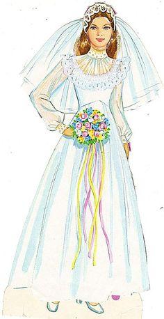 bride-paper doll