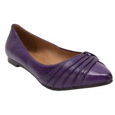 Miz Mooz Wallis Pleated Point Toe Flat #VonMaur
